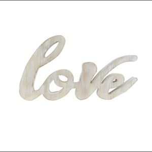 "Other - 16 inches ""Love"" wooden wood table decor"
